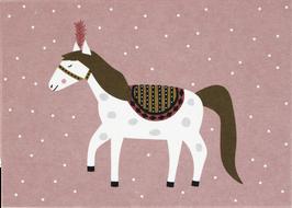 Postkarte Zirkuspferd (ohne Text)