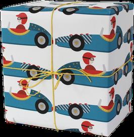Geschenkpapier Rennwagen (3 Bogen)
