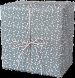 Geschenkpapier XXX blau (3 Bogen)