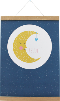 Poster Mond, A3