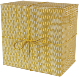 Geschenkpapier VVV gelb (3 Bogen)