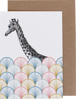 Klappkarte Giraffe