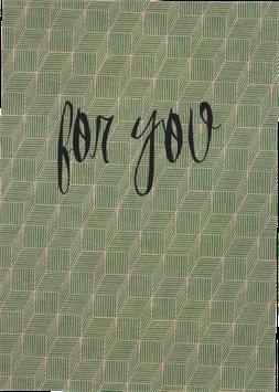 Postkarte Konfetti, grün - For You