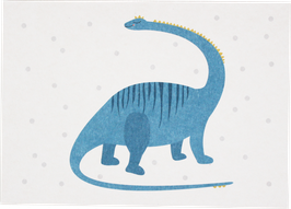 Postkarte Dino blau (ohne Text)