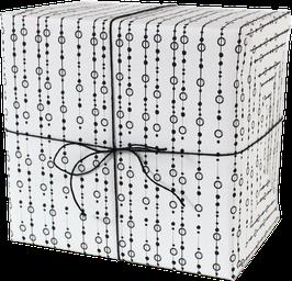 Geschenkpapier Perlen, weiss (3 Bogen)