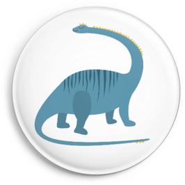 Button Dino, blau