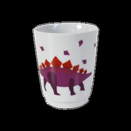 "Porzellanbecher ""Dino"", violett"