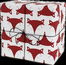 Geschenkpapier Fuchs (3 Bogen)