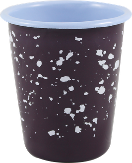 """Emaille-Becher """"Marble Dots"""", aubergine"""