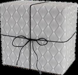 Geschenkpapier Lampion grau (3 Bogen)