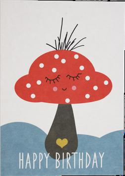 """Postkarte Pilzmännlein """"Happy Birthday"""""""