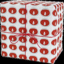 Geschenkpapier Bär, rot (3 Bogen)