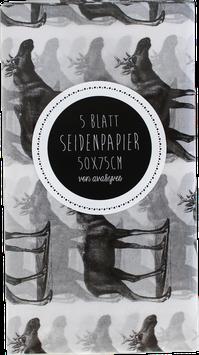 "Seidenpapier ""Elch"" - Set mit 5 Bögen (50x75 cm)"