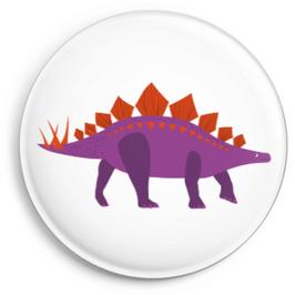 Button Dino, violett