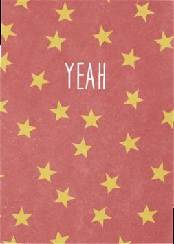 Postkarte mit Sternchen, altrosa - Yeah