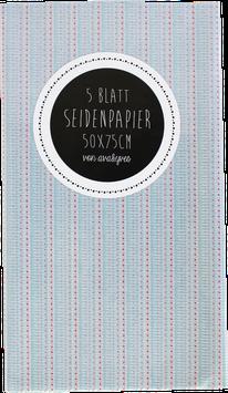 """Seidenpapier """"blaurot"""" - Set mit 5 Bögen (50x75 cm)"""