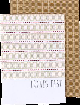 "Klappkarte ""Frohes Fest"""