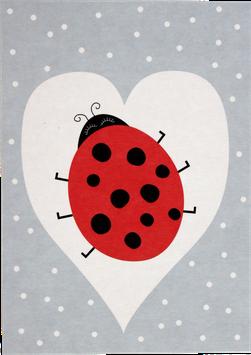 Postkarte Marienkäfer (ohne Text)