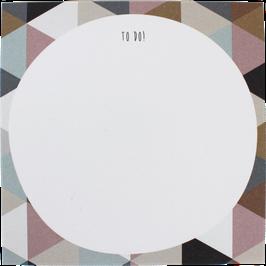 "Block ""Dreiecke"" 9,8 x 9,8 cm"
