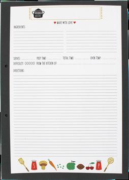 Rezeptblock A4, 50 Blatt