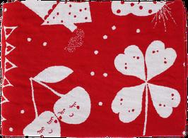 Gewebtes Sommertuch aus Leinen-/Baumwollgewebe,  rot (70 x 100 cm)
