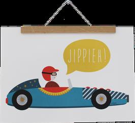Poster Rennwagen, A3