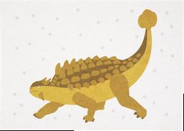 Postkarte Dino gelb (ohne Text)