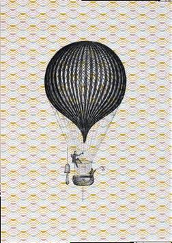 Postkarte Ballon