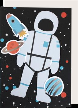 "Postkarte ""Space"" (A5) mit Deko-Elementen"