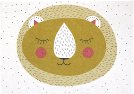 Postkarte Löwe, gelb (ohne Text)