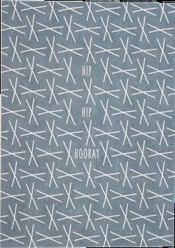 "Postkarte XXX blau ""Hip Hip Hooray"""