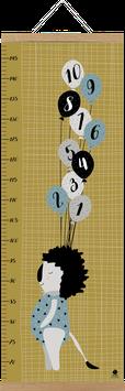 Messlatte Löwe mit Ballons  (29,7 x 84,1 cm)