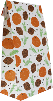 Geschenkpapier-Tüten Mandarinen (Set mit 6 Stück)