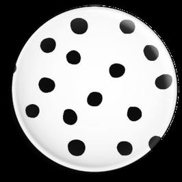 Magnet weiss mit schwarzen Punkten (32 mm)
