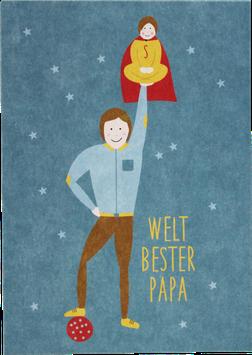 "Postkarte ""Welt bester Papa"""