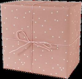 Geschenkpapier Sterne, lachs (3 Bogen)