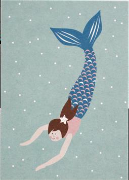 Postkarte Meerjungfrau
