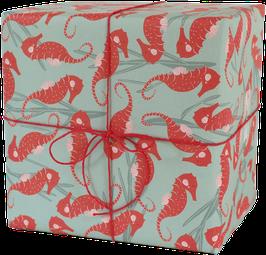 Geschenkpapier Seepferdchen (3 Bogen)