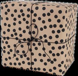 Geschenkpapier Punkte, nude (3 Bogen)