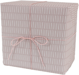 Geschenkpapier VVV rosa (3 Bogen)