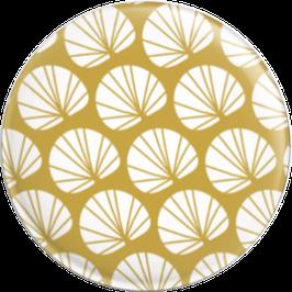 Magnet Blüten weiss/ocker (32 mm)