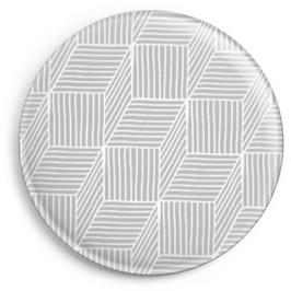 Magnet Streifenspiel, hellgrau (32 mm)