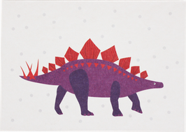 Postkarte Dino violett (ohne Text)
