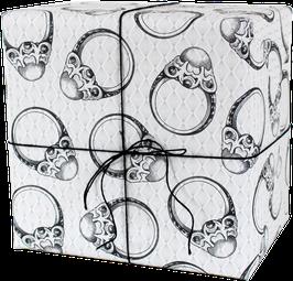 Geschenkpapier Perlenringe