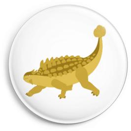 Button Dino, gelb
