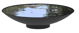 Waterschaal  zwart met coating