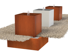 Waterblokken - corten of aluminium