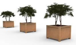 Valencia  - hardhouten plantenbak - (duurzaamheidsklasse 1)