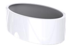 Ellipse -  (standaard) hoogglans wit (RAL 9010)