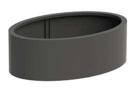 ELLIPSE - mat (standaard) zwartgrijs RAL 7021